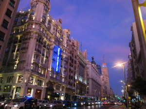 Gran via Madrid city