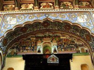 painted doorway palace shekhawat