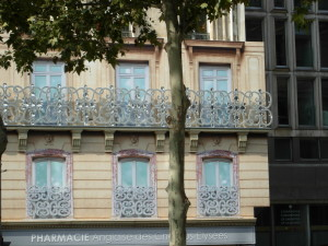 Paris balcony view